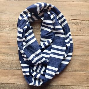 Accessories - Blue & White Striped Infinity Scarf